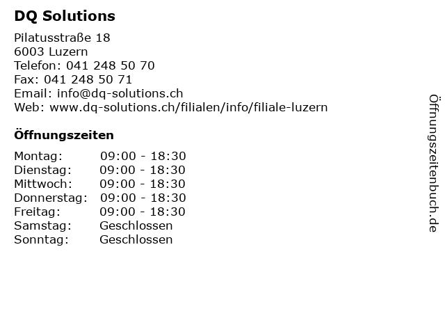 DQ Solutions in Luzern: Adresse und Öffnungszeiten