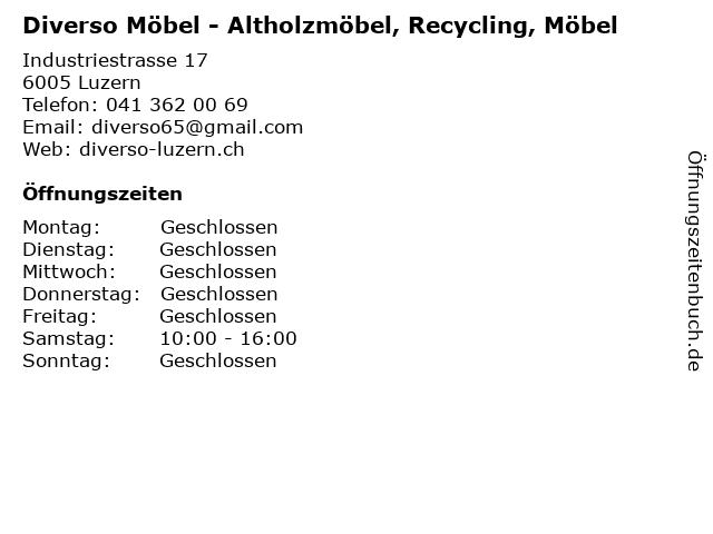 ᐅ öffnungszeiten Diverso Möbel Altholzmöbel Recycling Möbel