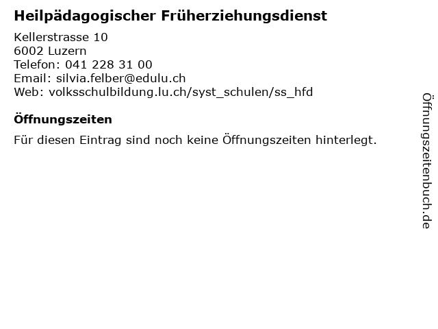 Heilpädagogischer Früherziehungsdienst in Luzern: Adresse und Öffnungszeiten