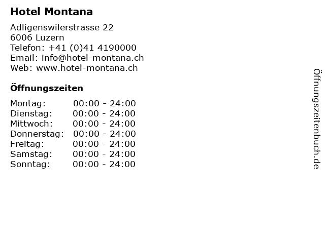 Hotel Montana in Luzern: Adresse und Öffnungszeiten