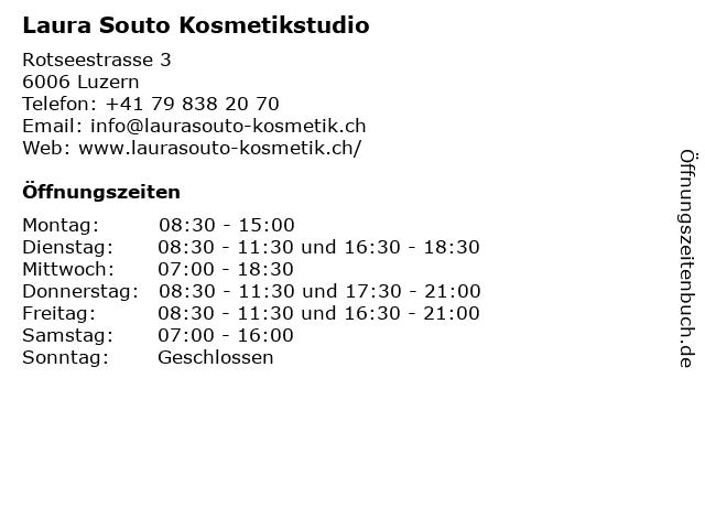Laura Souto Kosmetikstudio in Luzern: Adresse und Öffnungszeiten