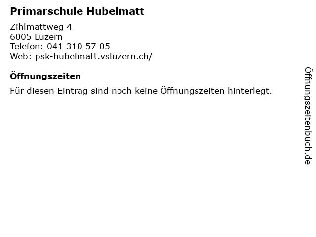 Primarschule Hubelmatt in Luzern: Adresse und Öffnungszeiten