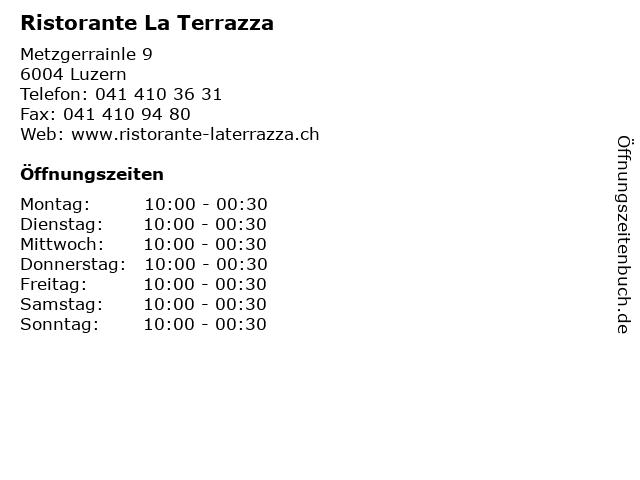 ᐅ öffnungszeiten Ristorante La Terrazza Metzgerrainle 9