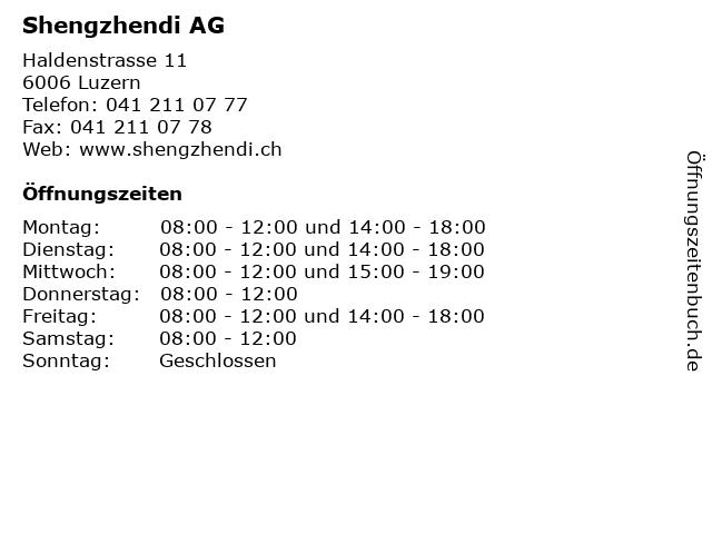 Shengzhendi AG in Luzern: Adresse und Öffnungszeiten