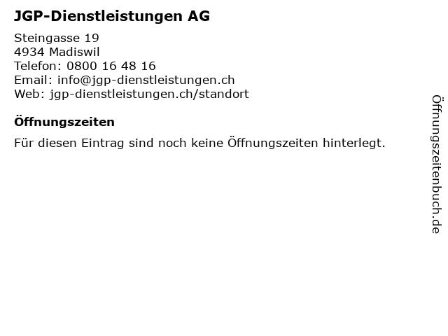 JGP-Dienstleistungen AG in Madiswil: Adresse und Öffnungszeiten