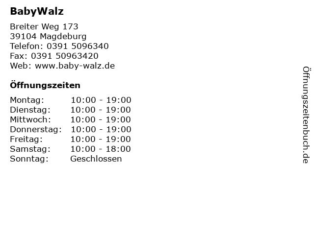 BabyWalz in Magdeburg: Adresse und Öffnungszeiten