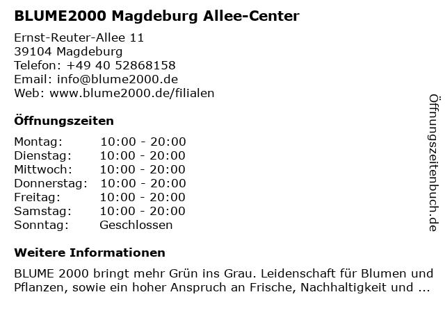Blume 2000 Magdeburg Allee-Center in Magdeburg: Adresse und Öffnungszeiten
