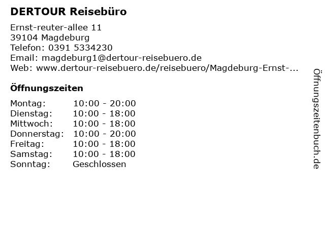 DER Deutsches Reisebüro in Magdeburg: Adresse und Öffnungszeiten