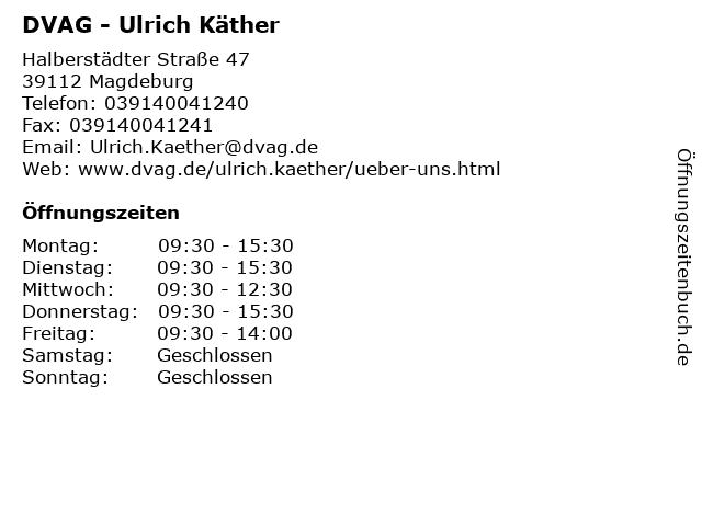 DVAG - Ulrich Käther in Magdeburg: Adresse und Öffnungszeiten