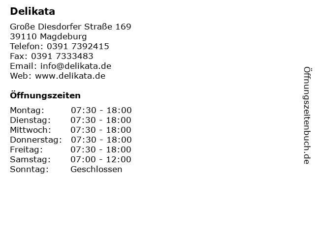 Delikata in Magdeburg: Adresse und Öffnungszeiten