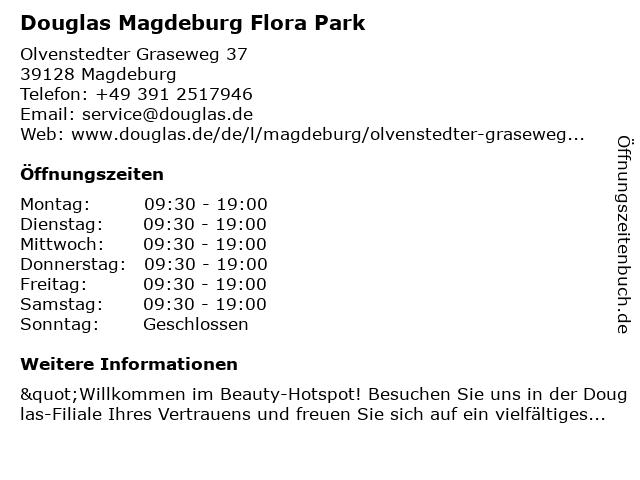 Parfümerie Douglas Magdeburg in Magdeburg: Adresse und Öffnungszeiten
