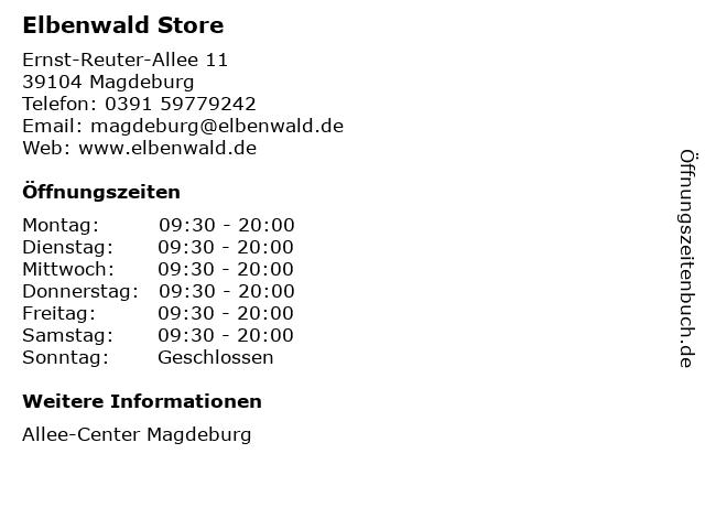 Elbenwald Store in Magdeburg: Adresse und Öffnungszeiten