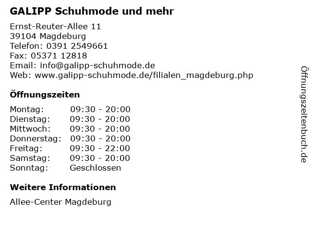 GALIPP Schuhmode und mehr in Magdeburg: Adresse und Öffnungszeiten