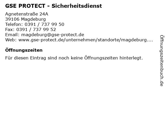 GSE PROTECT - Sicherheitsdienst in Magdeburg: Adresse und Öffnungszeiten