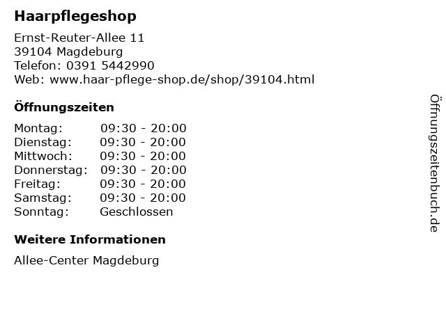 Haarpflegeshop in Magdeburg: Adresse und Öffnungszeiten