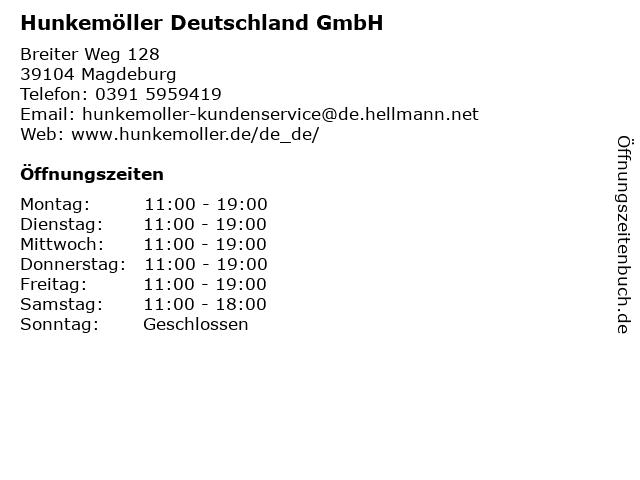Hunkemöller Deutschland GmbH in Magdeburg: Adresse und Öffnungszeiten