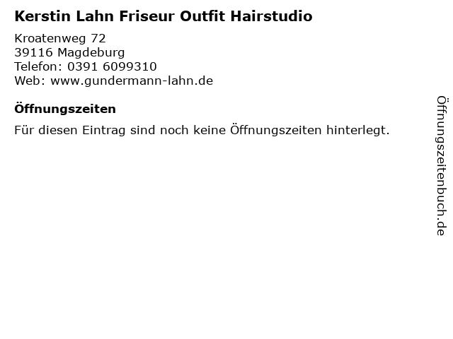Kerstin Lahn Friseur Outfit Hairstudio in Magdeburg: Adresse und Öffnungszeiten