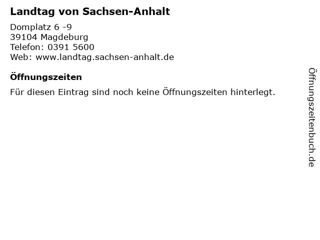 Landtag von Sachsen-Anhalt in Magdeburg: Adresse und Öffnungszeiten