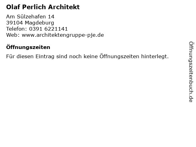 Olaf Perlich Architekt in Magdeburg: Adresse und Öffnungszeiten