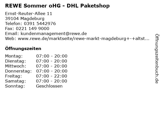 REWE Sommer oHG - DHL Paketshop in Magdeburg: Adresse und Öffnungszeiten