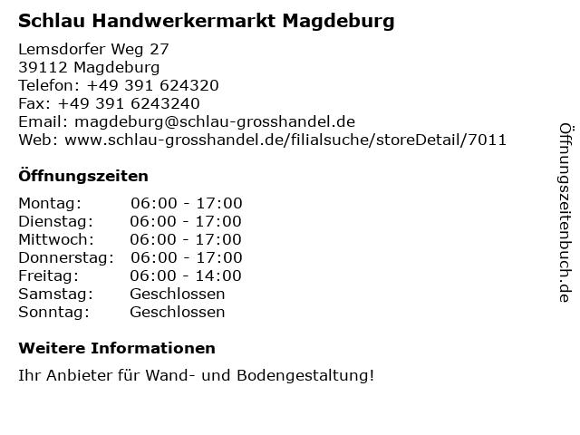 Farben Schlau.ᐅ öffnungszeiten Schlau Handwerkermarkt Magdeburg
