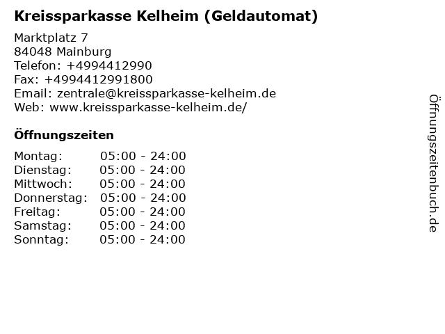 Kreissparkasse Kelheim - (Geldautomat Geschäftsstelle) in Mainburg: Adresse und Öffnungszeiten