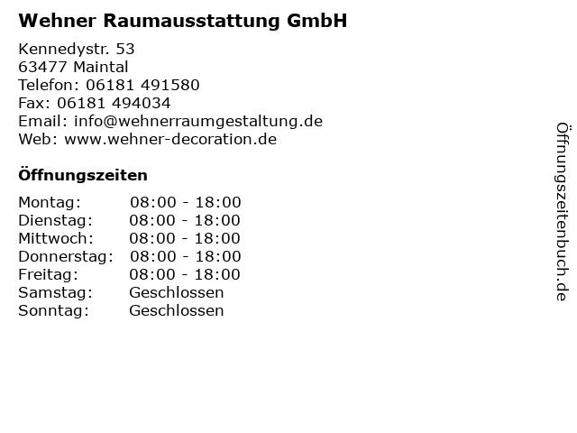 Wehner Raumausstattung GmbH in Maintal: Adresse und Öffnungszeiten