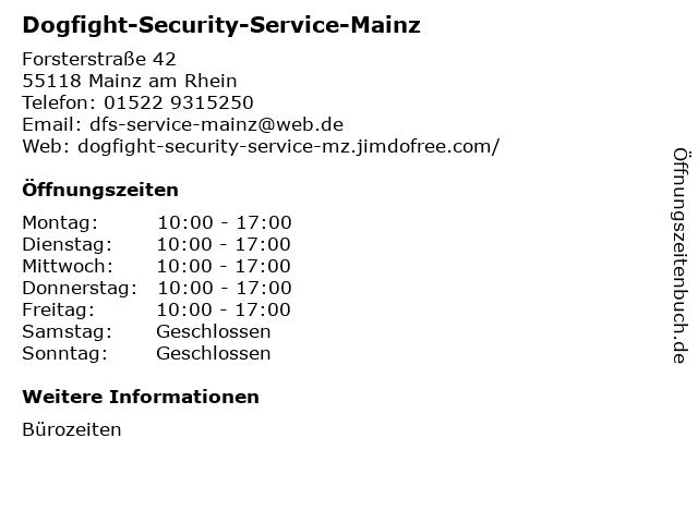 Dogfight-Security-Service-Mainz in Mainz am Rhein: Adresse und Öffnungszeiten