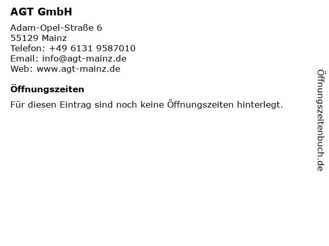 AGT Allgemeine Gleis- und Tiefbau- Bauunternehmung GmbH in Mainz: Adresse und Öffnungszeiten