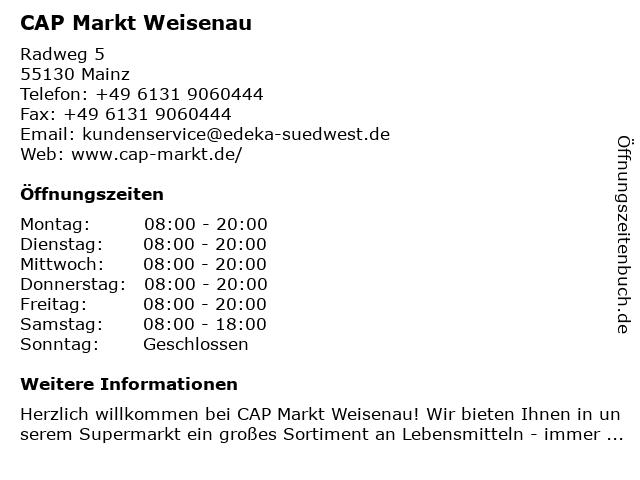 CAP Markt Weisenau in Mainz: Adresse und Öffnungszeiten