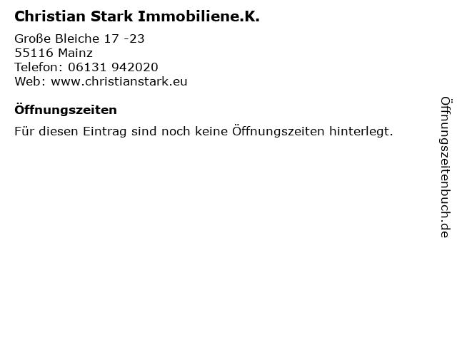Christian Stark Immobiliene.K. in Mainz: Adresse und Öffnungszeiten