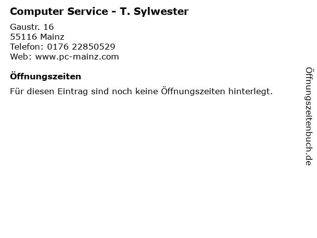 Computer Service - T. Sylwester in Mainz: Adresse und Öffnungszeiten