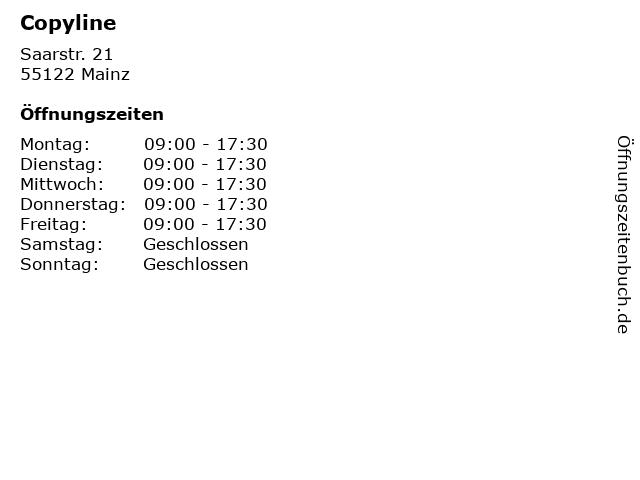 Copyline in Mainz: Adresse und Öffnungszeiten