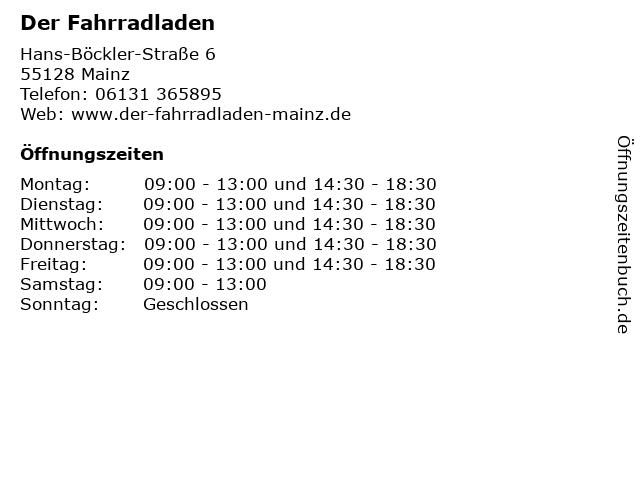 Der Fahrradladen in Mainz: Adresse und Öffnungszeiten