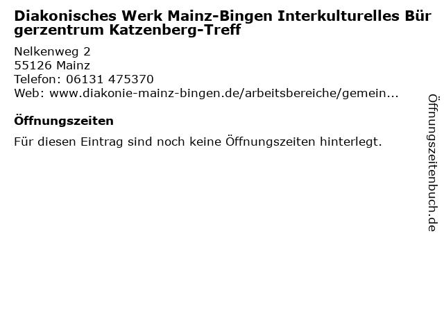 Diakonisches Werk Mainz-Bingen Interkulturelles Bürgerzentrum Katzenberg-Treff in Mainz: Adresse und Öffnungszeiten