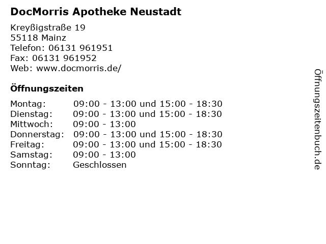 DocMorris Apotheke Neustadt in Mainz: Adresse und Öffnungszeiten
