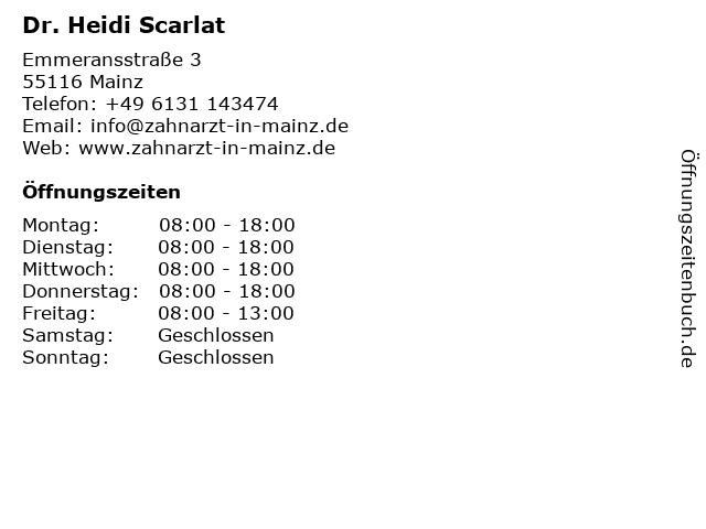 Dr. Heidi Scarlat in Mainz: Adresse und Öffnungszeiten