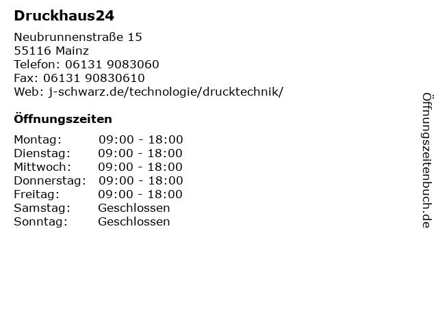 Druckhaus24 in Mainz: Adresse und Öffnungszeiten