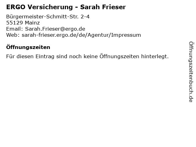 ERGO Versicherung - Sarah Frieser in Mainz: Adresse und Öffnungszeiten
