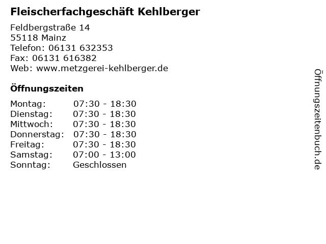 Fleischerfachgeschäft Kehlberger in Mainz: Adresse und Öffnungszeiten