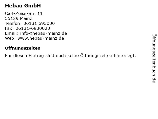 Hebau GmbH in Mainz: Adresse und Öffnungszeiten