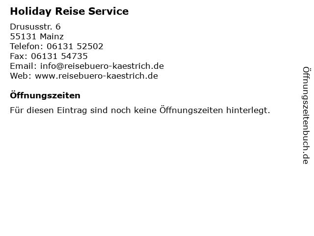 Holiday Reise Service in Mainz: Adresse und Öffnungszeiten