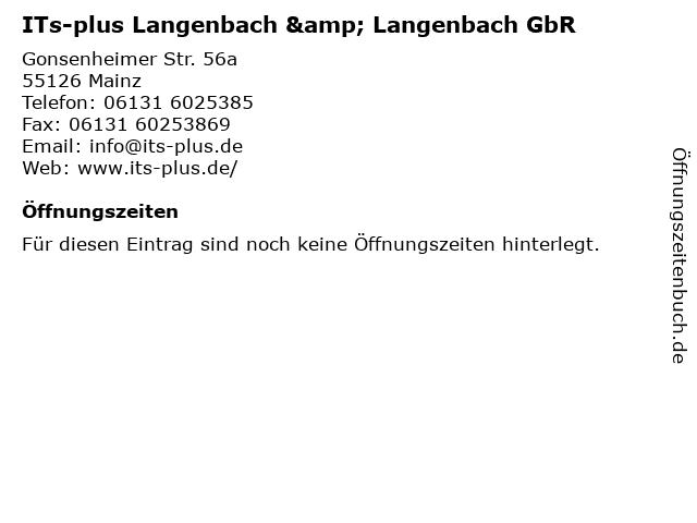 ITs-plus Langenbach & Langenbach GbR in Mainz: Adresse und Öffnungszeiten