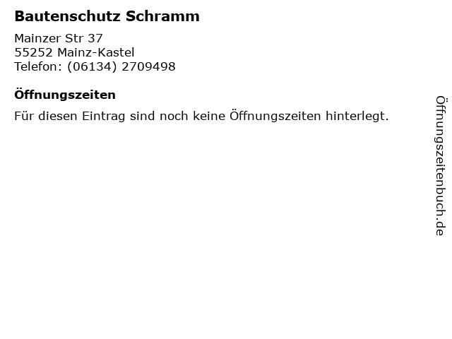 Bautenschutz Schramm in Mainz-Kastel: Adresse und Öffnungszeiten