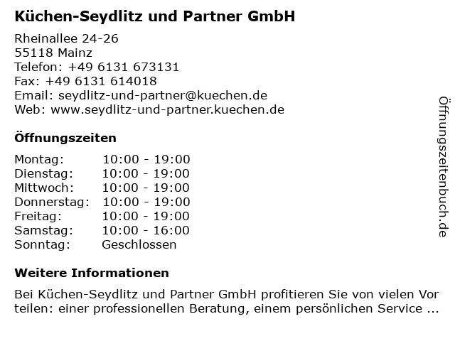 Küchen-Seydlitz und Partner GmbH in Mainz: Adresse und Öffnungszeiten