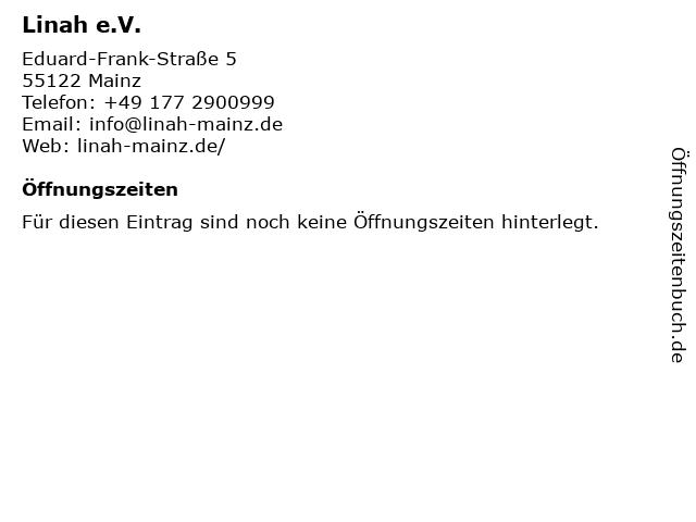 Linah e.V. in Mainz: Adresse und Öffnungszeiten