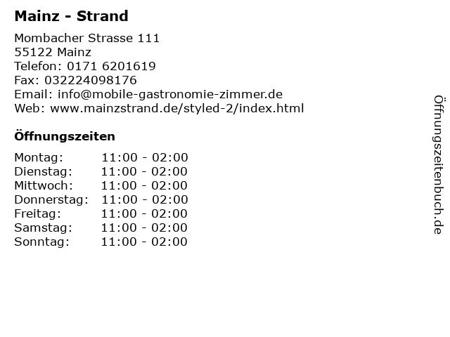 Mainz - Strand in Mainz: Adresse und Öffnungszeiten