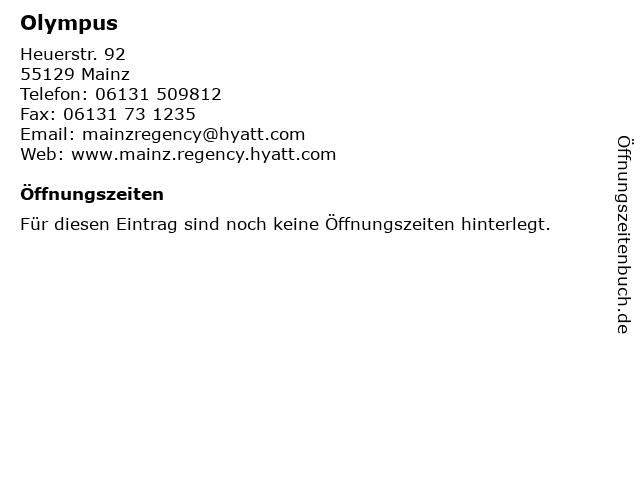 Olympus in Mainz: Adresse und Öffnungszeiten