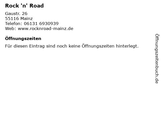 Rock 'n' Road in Mainz: Adresse und Öffnungszeiten