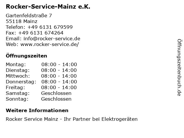 Rocker-Service-Mainz e.K. in Mainz: Adresse und Öffnungszeiten
